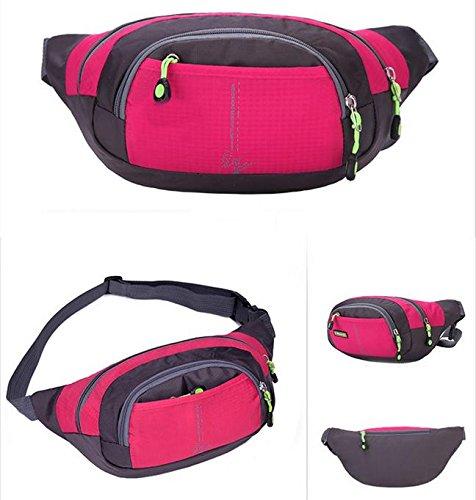 Z&HX sportspurse Hip Pack Reisetaschen Bergsteigens Tasche Rucksack im Freien Multifunktions rose red