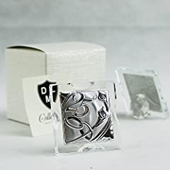 Idea Regalo - DLM26390 Icona in Vetro 25 Anniversario Segnaposto Confettata Nozze Matrimonio bomboniera