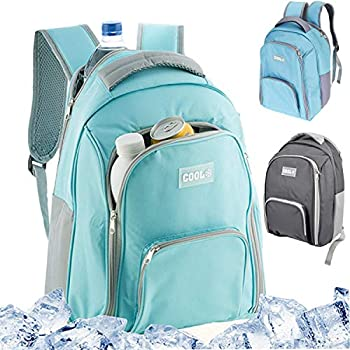 Grey VonShef 18L Cooler Backpack Lightweight Soft Insulated Picnic Cooler Bag