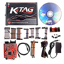 V2.47 OBD2 + KTAG V7.020 Meister Red Platine Kein Token Begrenzte ECU Chip Tuning-Programmierungs-Werkzeug Euro Online Version v2 KESS