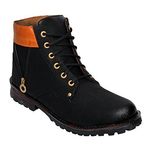 Desi Juta New Latest Fashion Bote Zip Stylish Boots LaceUp Shoes For Men/Mens/Men's/Boy/Boys/Boy's Brown Colour