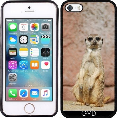 Leder Flip Case Tasche Hülle für Apple iPhone 6/6S - Erdmännchen by WonderfulDreamPicture Silicone