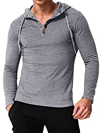 MODCHOK Homme Sweat à Capuche Pull Hoodie Sweat Top Jumper Manches Longues b2af2713f6c4