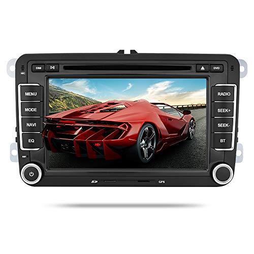Yingly Autoradio für VW Golf Passat Seat Navi Bluetooth Unterstützung GPS mit 7 Zoll Touchscreen