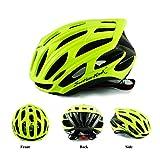 Casco Modelshow para ciclismo de carretera y de montaña, para hombres y mujeres, diseño con 25 agujeros de ventilación, verde