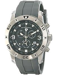 SWISS LEGEND 10164-014 - Reloj para hombres, correa de goma color gris