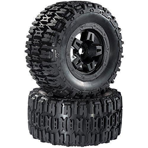 Monstertruck Reifen Felgenset Destroyer mit 5-Speichenfelge schwarz 1:8 partCore 320024