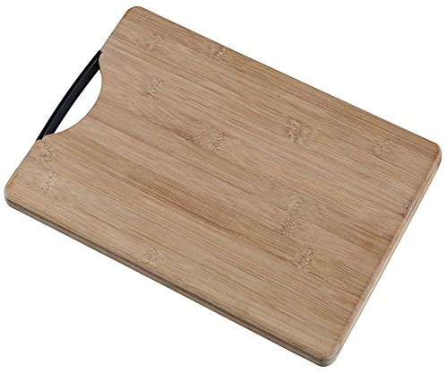 Vivir® Natural Bamboo Wooden Chopping Board Cutting Board Large With Handle (32cm x 22cm x 1.8 cm)  available at amazon for Rs.449