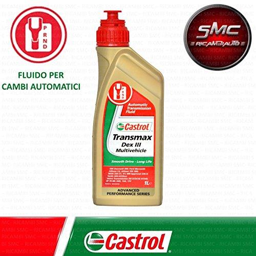 ricambi auto smc Olio Cambio per Trasmissione Cambio Automatico CASTROL TRANSMAX DEXTRON III MULTIVEHICLE 3 Lit