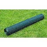 Tuduo Maschendraht PVC ummantelt Stärke 0,8mm grün Schutzzaun Sichtschutz Balkon Garten 1m x 25m