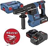 Bosch Professional Akku-Bohrhammer GBH 18V-26 F Professional, blau, L-BOXX, 2x