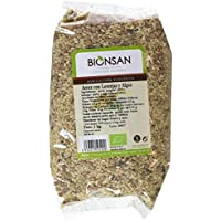Bionsan Arroz Integral, Lentejas y Algas - 3 Paquetes de 1000 gr - Total: 3000 gr