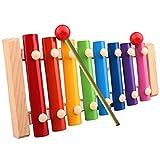 Jzhen Giocattoli Musicali per Bambini,8 Note Glockenspiel Xilofono Percussioni di Colorati Strumento Xilofono,Giochi Musicali per Bambino delle Ragazze dei Ragazzi