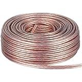 DCSk - 2 x 1,5 mm² - 25m - Câble d'enceinte - haut-parleurs - cuivre pur - transparent - 25 m