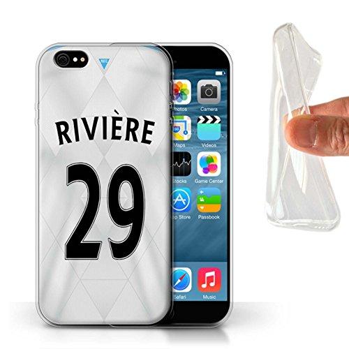 Offiziell Newcastle United FC Hülle / Gel TPU Case für Apple iPhone 6S / Pack 29pcs Muster / NUFC Trikot Away 15/16 Kollektion Rivière