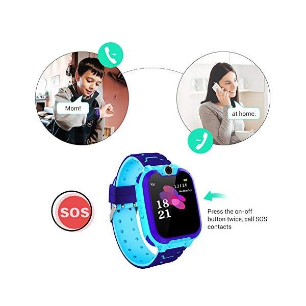 Smartwatch para niños, Smart Watch Phone con Reproductor de música, SOS, 1,44 Pulgadas, Pantalla táctil LCD con cámara Digital, Juegos, Despertador para niños y niñas 2