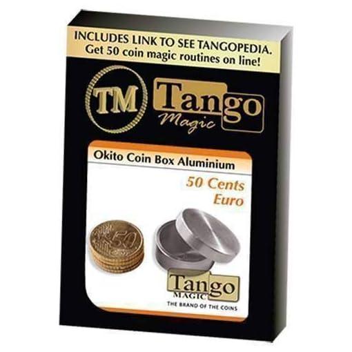 Okito-Coin-Box-Aluminum-50-cent-Euro-by-Tango-Magie-mit-Tuch-Zaubertricks-und-Magie SOLOMAGIA Okito Coin Box Aluminum 50 Cent Euro by Tango – Magie mit Tuch – Zaubertricks und Magie -