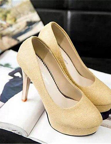 WSS 2016 Chaussures Femme-Soirée & Evénement-Noir / Or-Talon Aiguille-Talons-Talons-Synthétique golden-us6.5-7 / eu37 / uk4.5-5 / cn37