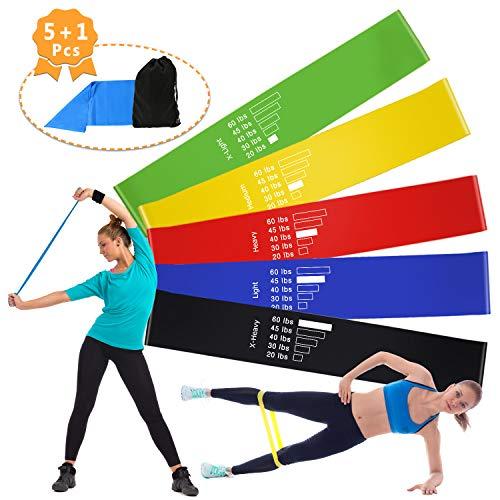 Homga fasce per il fitness/cinturini, fascia elastica di fascia elastica per banda di fitness di bande, banda elastica per allenamento di resistenza fisica, palestra domestica, yoga, pilates