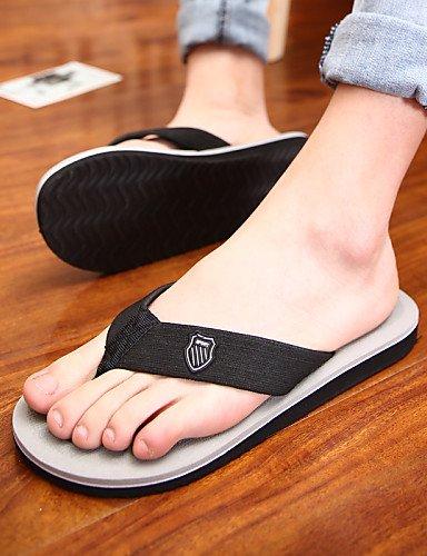 NTX/Herren Schuhe Outdoor/Casual Stoff Flip Flops, Schwarz/Braun/Grau gray-us7.5 / eu39 / uk6.5 / cn40