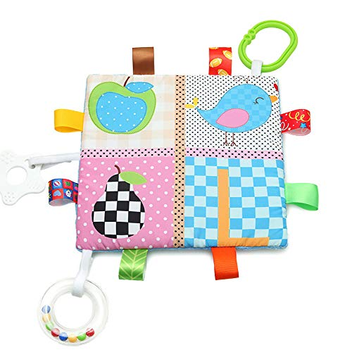 ZREAL Säugling Zahnen Tuch beschwichtigen Handtuch Spielzeug Baby Beißring Decke hängen klingenden Handtuch