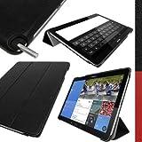 igadgitz Schwarz PU Ledertasche Hülle Smart Cover für Samsung Galaxy NotePRO 12.2