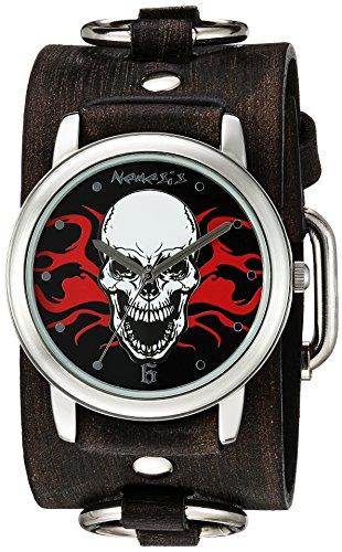 Nemesis 922FRBK - Reloj de pulsera hombre, piel, color Negro