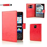 32nd PU Leder Mappen Hülle Flip Case Cover für BlackBerry