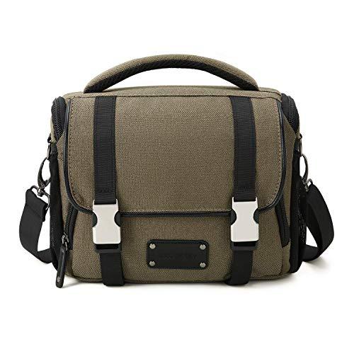 Khaki-objektiv (BAGSMART SLR Kameratasche Fototasche mit Regenschutz für Spiegelreflexkameras Objektive Zubehöre Khaki)