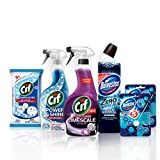 Cif and Domestos Essential Bathroom Cleaning Kit, 6 items