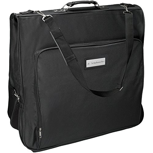 Ihren Kostüm Diensten Zu - Cadenis Business Kleidersack mit Laser-Gravur aus strapazierfähiger Mikrofaser schwarz 110 cm - Platz für mehrere Anzüge auf Geschäftsreisen