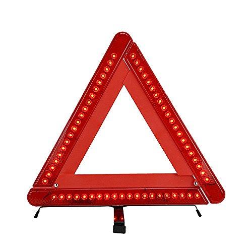 TILY Foldable Car Emergency Warning Triangle Kit Reflector 17 Inch Emergency Road Flasher