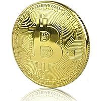 Pièce de Bitcoin physique en cuivre. or