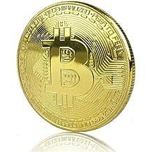 Moneta fisica Bitcoin oro in rame