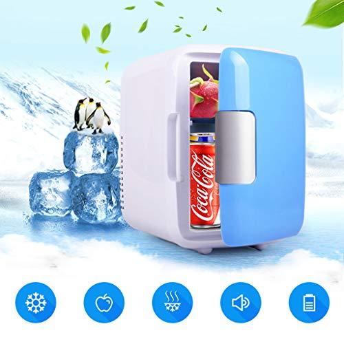 Weishazi Mini réfrigérateur à double usage ultra silencieux pour voiture, réfrigérateur à faible bruit, congélateur et boîte de chauffage bleu