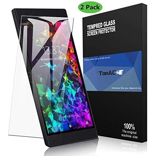 TopACE Schutzfolie für Razer Phone 2, Razer Phone 2 Panzerglas Premium Hartglas Gehärtetes Glas Displayschutz für Razer Phone 2(Transparent)