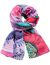 Desigual Foulard_rectangle Boho Mix, Echarpe Femme