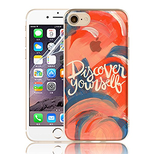 Ultra Sottile Custodia per iPhone 7 Plus iPhone 7 Plus, Cover per iPhone 7 Plus, Sunroyal Creativa Wave Cover Morbido Flessibile TPU Silicone Gel Protettivo Skin Caso Custodia Protettiva Shell Case Co Model 21