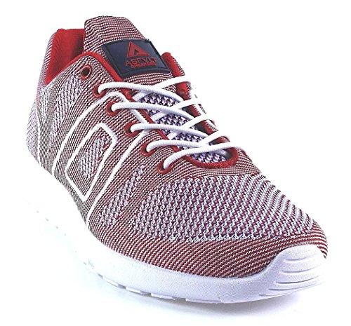 Asfvlt, Sneaker uomo Rosso rosso Rosso (rosso)