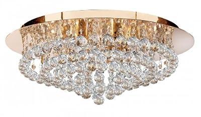 Deckenleuchte Hanna in Gold Größe: 21cm H x 55cm B x 55cm T von Searchlight bei Lampenhans.de
