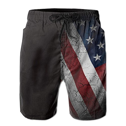 Pillow hats USA Flag Crack Men's Summer Beach Quick-Dry Surf Swim Trunks Boardshorts Cargo Pants