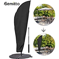 GEMITTO Protective Parasol Cover with Rod, Cantilever Parasol Protective Cover 2 to 4 m Large Umbrella Cover Weatherproof UV-Anti Windproof and Snow Safe Outdoor for Cantilever Parasol 280x30x81/46 cm
