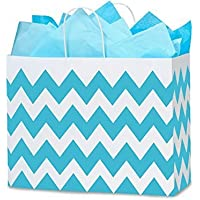 Nashville Wraps Shopping Gift Bags 25 Count - Chevron Stripe - Turquoise - Vogue by Nashville Wraps preisvergleich bei billige-tabletten.eu