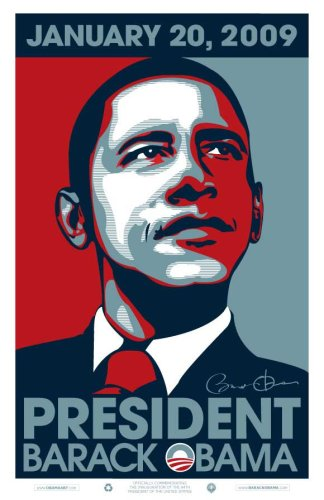 Pop Culture Graphics Barack Obama-24x 36-2009ersten Poster-Glänzendes Finish