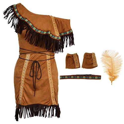 Kostüm Stammes Erwachsene Prinzessin Für - FLAMEER Damenkostüm Halloween Party Kostüm - XXL