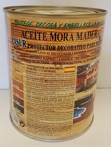 ACEITE MORA MADERA SATINADO 1 L WENGUÉ