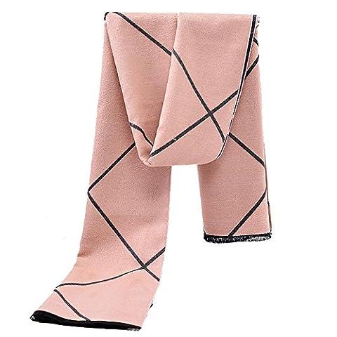 Fashion High Grade Imitation Kaschmir Double Sided Lattice Kaschmir Schal Schal Big Rock Verdickung Warm Lady , 190*65