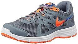 Nike Mens Revolution 2 MSL Charcoal Black and Orange Running Shoes -8 UK/India (42.5 EU)(9 US)