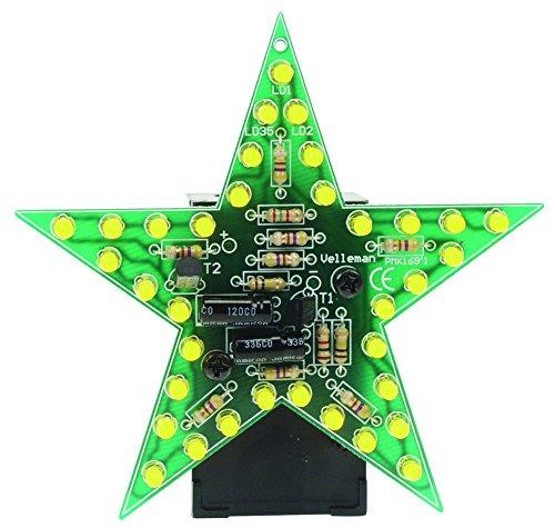 VELLEMAN - MK169Y Minikits blinkendes LED Star, Gelb 840373 -