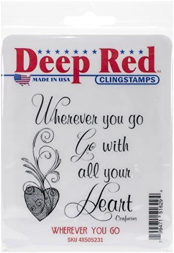 Deep rosso Stamps in in in gomma, 7,6 cm x 7,6 cm, con sé | Grande vendita  | Pacchetto Elegante E Robusto  | Di Alta Qualità  95de1a